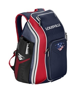 Louisville Slugger Prime Carrying Case (Backpack) Gear, Bat, Baseball - Navy, Scarlet