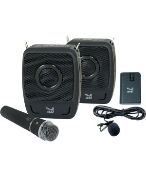 SMK-Link GoSpeak! Duet Wireless Portable PA System with Wireless Microphones (VP3450)