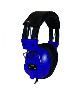 Avid Education AE-808 Switchable Stereo/Mono Headphone with Voume Control, Blue