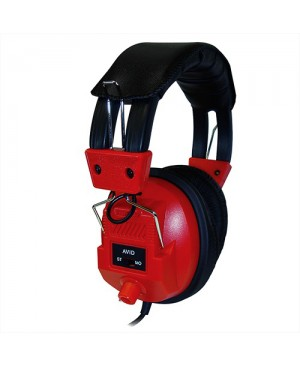 Avid Education AE-808 Switchable Stereo/Mono Headphone with Voume Control, Red