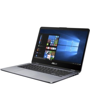 "Asus VivoBook Flip 14 TP410UA-DS52T 14"" Touchscreen LCD Notebook - Intel Core i5 (8th Gen) i5-8250U Quad-core (4 Core) 1.60 GHz - 8 GB DDR4 SDRAM - 1 TB HHD - Windows 10 64-bit - 1920 x 1080 - Convertible - Star Gray"