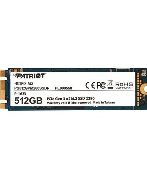 Patriot Memory Scorch 512 GB Solid State Drive - PCI Express (PCI Express 3.0 x2) - Internal - M.2 2280