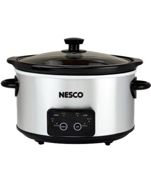 Nesco 4 Qt. Digital Stainless Steel Slow Cooker