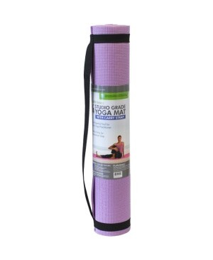 PurAthletics 5mm Studio Grade Yoga Mat with Carry Strap