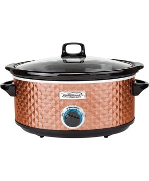 Brentwood Select SC-157C 7 Quart Slow Cooker, Copper