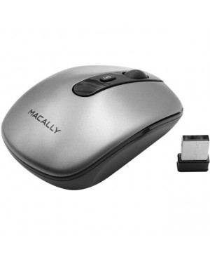Macally Compact Rechargeable 2.4GHz Wireless RF Optical Mouse For Mac and PC