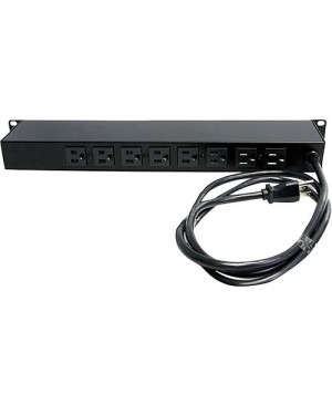 StarTech.com Rackmount PDU with 8 Outlets with Surge Protection - 19in Power Distribution Unit - 1U