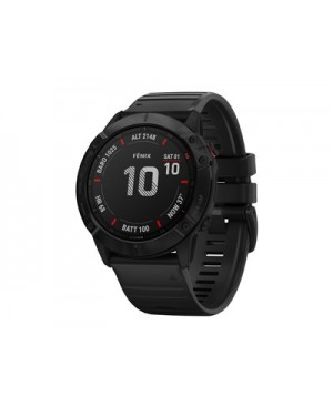 Garmin fenix 6X Pro - black - sport watch with band - black - 32 GB