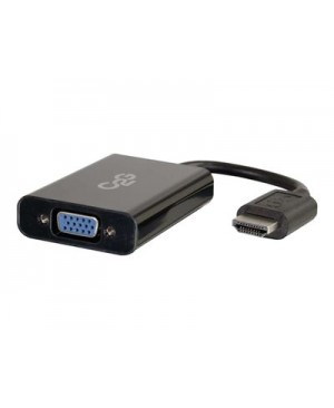 C2G HDMI to VGA and Stereo Audio Adapter Converter Dongle - video converter - black