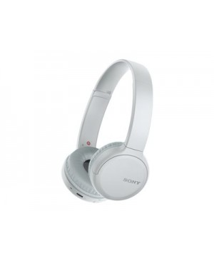 Sony WH-CH510 - Headphones with mic - on-ear - Bluetooth - wireless - NFC - white