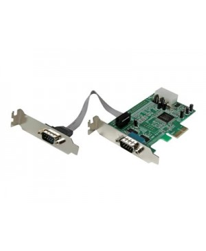 StarTech.com 2 Port Low Profile Native RS232 PCI Express Serial Card with 16550 UART - serial adapter
