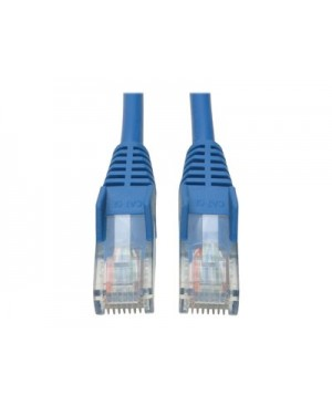 Tripp Lite 15ft Cat5e / Cat5 Snagless Molded Patch Cable RJ45 M/M Blue 15' - patch cable - 15 ft - blue