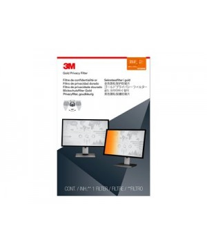 """3M Gold Privacy Filter for 23"""" Widescreen Monitor - display privacy filter - 23"""" wide"""