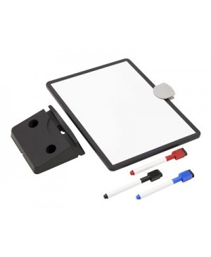 Tripp Lite Magnetic Dry-Erase Whiteboard with Stand - VESA Mount, 3 Markers (Red/Blue/Black), Black Frame - whiteboard