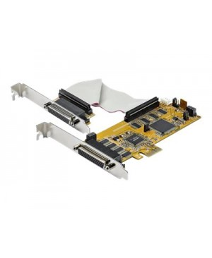 StarTech.com 8-Port PCI Express Serial Card - 16C1050 UART RS232 - PCIE Low Profile Bracket - DB9 Serial Card (PEX8S1050LP) - serial adapter