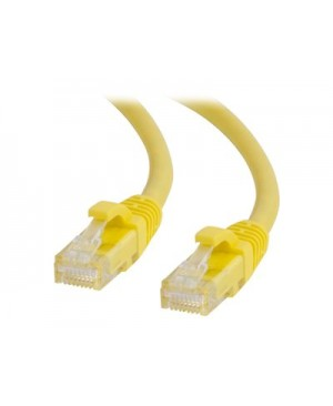 C2G 9ft Cat6a Snagless Unshielded (UTP) Network Patch Ethernet Cable-Yellow - patch cable - 9 ft - yellow