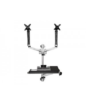 StarTech.com Wall Mounted Computer Workstation - Dual Monitor, Articulating - mounting kit