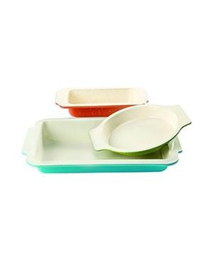 Gibson Color Splash Bakeware Set