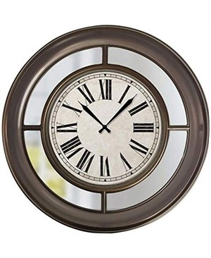 """22"""" Wall Clock With Mirror"""