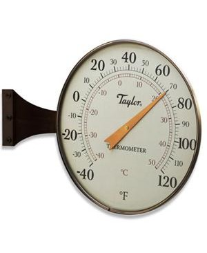 "Taylor Heritage Collection 8.5"" Dial Thermometer-Bronze"
