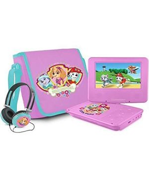 "Ematic NKGR6512 Portable DVD Player - 7"" Display - Pink"