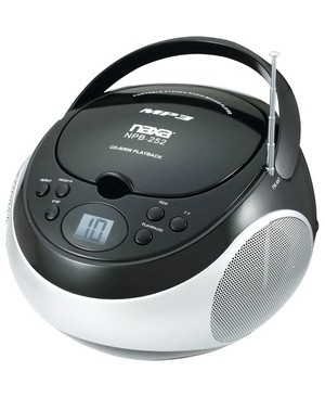 Naxa Portable MP3/CD Player with AM/FM Stereo Radio