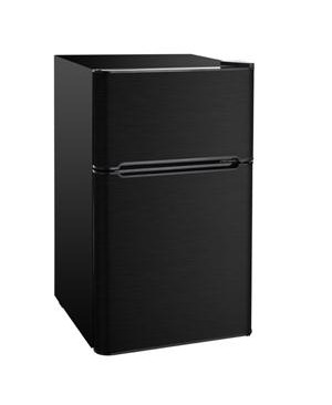 RCA 3.2 Cu Ft 2 Door Black Stainless Steel Design Compact Fridge